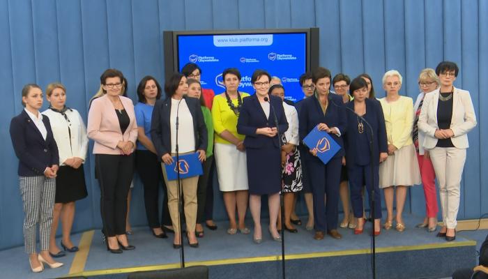 Parlamentarzystki Platformy Obywatelskiej za utrzymaniem kompromisu aborcyjnego fot. ŚWIECZAK