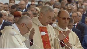 Papież Franciszek odprawił Mszę Świętą na Jasnej Górze z okazji 1050-lecia Chrztu Polski fot. ŚWIECZAK