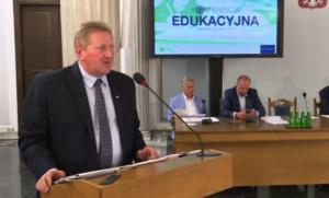 Tadeusz Sławecki, szef zespołu ekspertów ds. oświaty przy NKW PSL, b. sekretarz stanu w Ministerstwie Edukacji Narodowej Konferencja edukacyjna PSL fot. ŚWIECZAK
