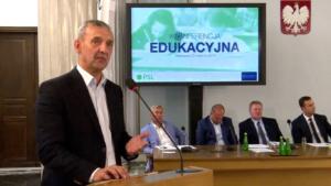 prezes Związku Nauczycielstwa Polskiego, Sławomir Broniarz Konferencja edukacyjna PSL fot. ŚWIECZAK