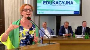Małgorzata Muzoł, Konferencja edukacyjna PSL fot. ŚWIECZAK