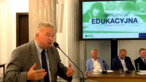 dr Czesław Siekierski, Konferencja edukacyjna PSL fot. ŚWIECZAK