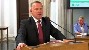 Jan Cedro - Przewodniczący Rady Powiatu w Kielcach Konferencja edukacyjna PSL fot. ŚWIECZAK