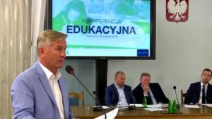 Stanisław Jastrzębski , wiceprzewodniczący Związku Gmin RP, Konferencja edukacyjna PSL fot. ŚWIECZAK