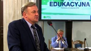 Wiesław Gołębiewski Konferencja edukacyjna PSL fot. ŚWIECZAK