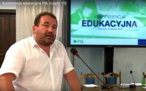 Grzegorz Nieć, Konferencja edukacyjna PSL fot. ŚWIECZAK