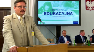 Grzegorz Kowalski,  Zarząd Związku Powiatów Polskich Konferencja edukacyjna PSL fot. ŚWIECZAK