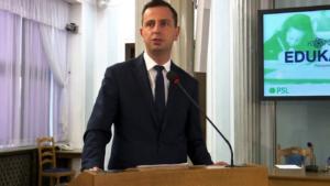 Władysław Kosiniak-Kamysz,  Przewodniczący Klubu Parlamentarnego PSL, Prezes PSL, Konferencja edukacyjna PSL fot. ŚWIECZAK