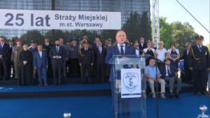 Zdzisław Sipiera Wojewoda Mazowiecki Obchody 25-lecia Straży Miejskiej m.st. Warszawy fot. ŚWIECZAK