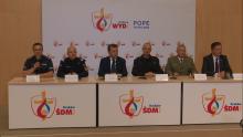 Konferencja podsumowująca bezpieczeństwo Światowych Dni Młodzieży fot. ŚWIECZAK