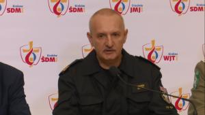 Nadbrygadier Leszek Suski, komendant główny PSP Konferencja podsumowująca bezpieczeństwo Światowych Dni Młodzieży fot. ŚWIECZAK