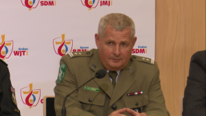 płk Marek Łapiński, komendant główny SG, Konferencja podsumowująca bezpieczeństwo Światowych Dni Młodzieży fot. ŚWIECZAK