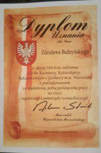 Uroczystość 540-lecia Cechu Kuśnierzy, Kożuszkarzy, Rękawiczników i Garbarzy m. st. Warszawy