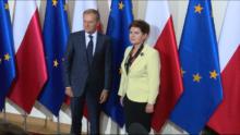 Spotkanie premier Beaty Szydło z Donaldem Tuskiem przewodniczącym Rady Europejskiej fot. ŚWIECZAK