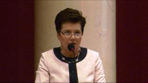 Hanna Gronkiewicz-Waltz Prezydent Warszawy Burzliwa sesja Rady Warszawy. Chcą dymisji Gronkiewicz-Waltz fot. ŚWIECZAK