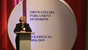 Krystyna Lewkowicz, Przewodnicząca OPS Obywatelski Parlament Seniorów, II kadencja 2016-2019 fot. ŚWIECZAK