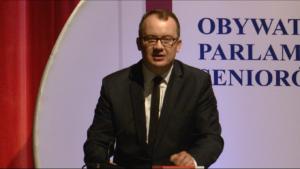 Dr Adam Bodnar, Rzecznik Praw Obywatelskich Obywatelski Parlament Seniorów, II kadencja 2016-2019 fot. ŚWIECZAK