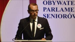 Michał Szczerba, Wiceprzewodniczący Komisji Polityki Senioralnej Obywatelski Parlament Seniorów, II kadencja 2016-2019 fot. ŚWIECZAK