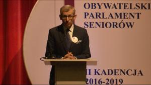 Krzysztof Kwiatkowski Prezes Najwyższej Izby Kontroli Obywatelski Parlament Seniorów, II kadencja 2016-2019 fot. ŚWIECZAK