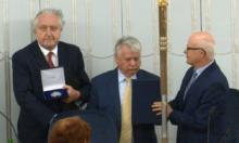 Medal senacki dla prezesa Andrzeja Rzeplińskiego fot. ŚWIECZAK