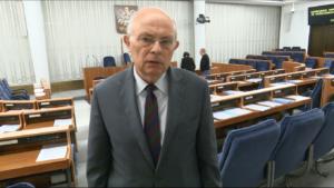 Senator Marek Borowski Prezes Andrzej Rzepliński przedstawił w Senacie informację o działalności TK w 2015 r. fot. ŚWIECZAK