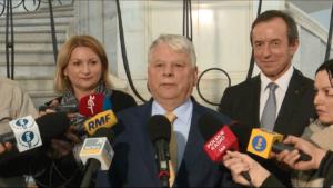 Marszałek Bogdan Borusewicz Prezes Andrzej Rzepliński przedstawił w Senacie informację o działalności TK w 2015 r. fot. ŚWIECZAK