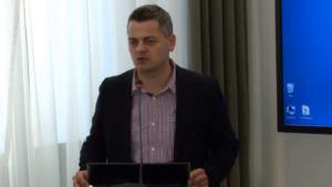 """dr inż. Maciej Możejewski Seminarium pt:""""Funkcjonowanie Służby Celnej w Polsce"""" fot. ŚWIECZAK"""
