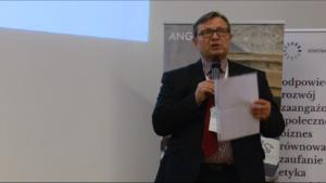 Andrzej Roter Prezes Zarządu Konferencja Przedsiębiorstw Finansowych w Polsce XI Konkurs Verba Veritatis na najlepszą pracę z zakresu etyki biznesu fot. ŚWIECZAK