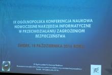 """IX Ogólnopolska Konferencja""""Nowoczesne narzędzia informatyczne w przeciwdziałaniu zagrożeniom  fot. ŚWIECZAK"""