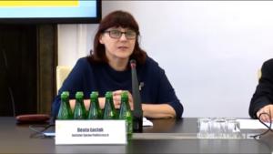 """Beata Łaciak, członkini zarządu Instytutu Spraw Publicznych Konferencja """"Doświadczenia stosowania ustawy o petycjach"""" fot. ŚWIECZAK"""