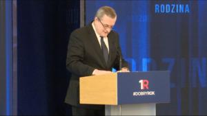 Piotr Gliński, Wicepremier, minister kultury i dziedzictwa narodowego #DobryRok.  Premier Szydło: Dotrzymujemy słowa. To był dobry rok zbudowany na trzech filarach: rodzina, rozwój i bezpieczeństwo fot. ŚWIECZAK
