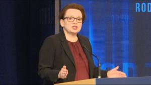 Anna Zalewska,  Minister edukacji narodowej #DobryRok.  Premier Szydło: Dotrzymujemy słowa. To był dobry rok zbudowany na trzech filarach: rodzina, rozwój i bezpieczeństwo fot. ŚWIECZAK