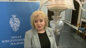 """Maria Koc Wicemarszałek Senatu Finał konkursu """"Obrazki z Sienkiewicza"""" fot. ŚWIECZAK"""