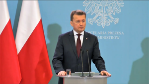 Mariusz Błaszczak Minister Spraw Wewnętrznych i Administracji Ustawa dezubekizacyjna trafia dzisiaj na posiedzenie rządu fot. ŚWIECZAK