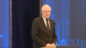 Jarosław Gowin,  Wicepremier, minister nauki i szkolnictwa wyższego #DobryRok.  Premier Szydło: Dotrzymujemy słowa. To był dobry rok zbudowany na trzech filarach: rodzina, rozwój i bezpieczeństwo fot. ŚWIECZAK