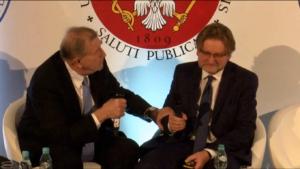 prof. Witold Zatoński Jarosław Pinkas Kongres Zdrowia Publicznego 2016 fot. ŚWIECZAK