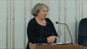 """Senator Dorota Czudowska Senatorowie bez poprawek przyjęli ustawę o wsparciu kobiet w ciąży i ich rodzin """"Za życiem"""" fot. ŚWIECZAK"""