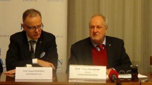 Konferencja prasowa Polskiej Akademii Nauk na temat wykorzystania technologii kosmicznych w gospodarce oraz wyborów nowych członków PAN fot. ŚWIECZAK