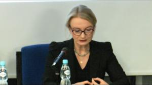 """SSN Katarzyna Gonera Konferencja pt:""""Dobre praktyki w relacjach pomiędzy sędzią i profesjonalnym pełnomocnikiem w procesie cywilnym"""" fot. ŚWIECZAK"""