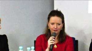 """SSO dr Aneta Łazarska Konferencja pt:""""Dobre praktyki w relacjach pomiędzy sędzią i profesjonalnym pełnomocnikiem w procesie cywilnym"""" fot. ŚWIECZAK"""