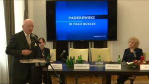 """prof. Marek Żebrowski, Konferencja """"Ignacy Jan Paderewski – wielki artysta"""" fot. ŚWIECZAK"""