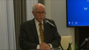 """dr Alvin Mark Fountain, konsul honorowy RP w Raleigh, Północna Karolina (USA) Konferencja """"Ignacy Jan Paderewski – wielki artysta"""" fot. ŚWIECZAK"""