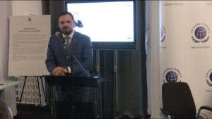 Kamil Wyszkowski Dyrektor Generalny Global Compact w Polsce Konferencja ,,Biznes i Prawa Człowieka – Implementacja Wytycznych ONZ'' fot. ŚWIECZAK
