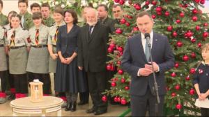 Betlejemskie Światło Pokoju w Pałacu Prezydenckim fot. ŚWIECZAK